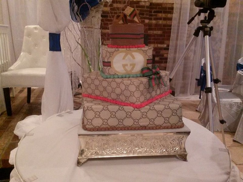 This is one high class cake.