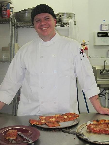 Jon Feraro, Owner of Feraro's Jersey Style Pizza - ROBIN WHEELER