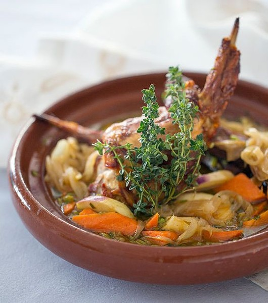 RABBIT TAJINE AT BAIDA | JENNIFER SILVERBERG