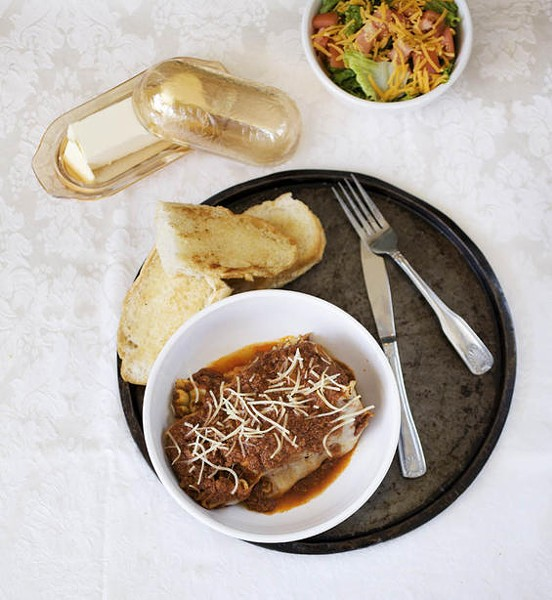 The lasagna -- all eight layers of it -- at Mama Josephine's - JENNIFER SILVERBERG