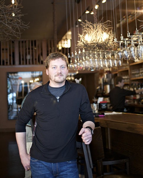 Dave Bailey inside his newest venture, The Bridge Tap House & Wine Bar - JENNIFER SILVERBERG