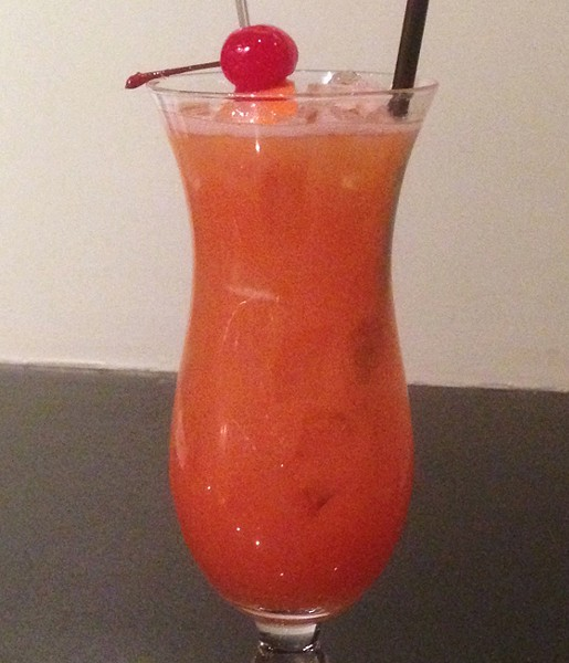 A hurricane cocktail made with real fruit juice. | Patrick J. Hurley