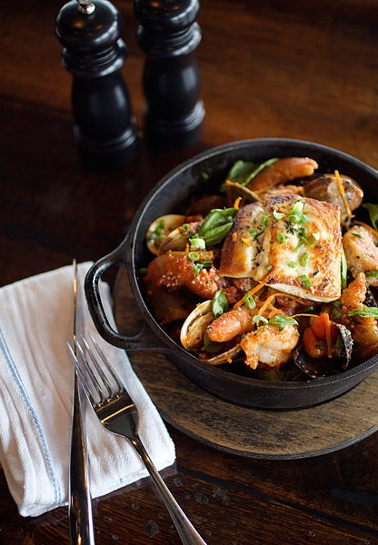 The fishermen's stew at the Tavern Kitchen & Bar in Valley Park - JENNIFER SILVERBERG