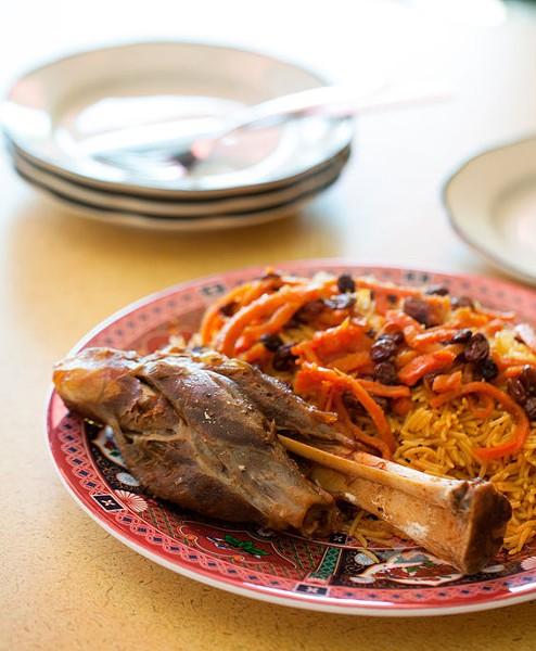 Lamb Qabelli Palau from Sameem Afghan Restaurant. - JENNIFER SILVERBERG