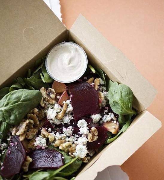 """The """"Just Beet It"""" salad at Fozzie's Sandwich Emporium - JENNIFER SILVERBERG"""