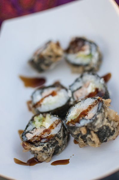 The fried Philly roll from Drunken Fish. | Caroline Yoo