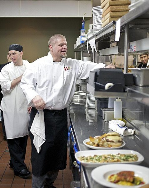 Owner Jeff Constance in the Hanley's kitchen - JENNIFER SILVERBERG