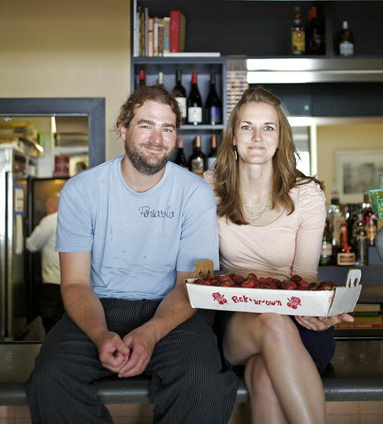 Kevin Willmann, owner and chef of Farmhaus, and his fiancee and front-of-house manager, Jessica Hanzlick: Willmann's poached escolar was the best dish at the year's best restaurant. - JENNIFER SILVERBERG