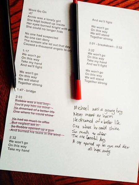 """Won't Go On"" by Shotgun Abby"