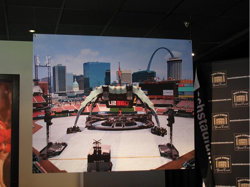 A rendering of what the U2 360 stage will look like in Busch Stadium - ANNIE ZALESKI