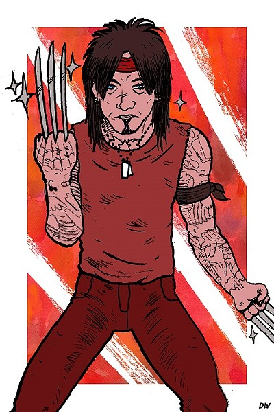 Nikki Sixx, as Wolverine. - DAVE WATT