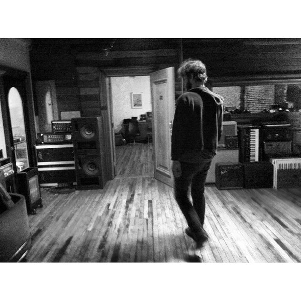 Beeman walking through Native Sound's live room - PHOTO BY BLAIR STILES