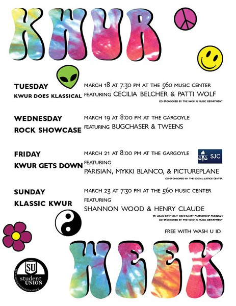 KWUR Week is set to kick-off Tuesday, March 18. - ÁINE O'CONNOR