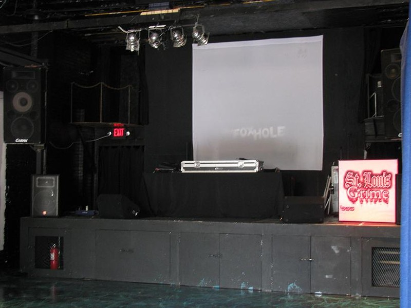 The Fox Hole's stage.
