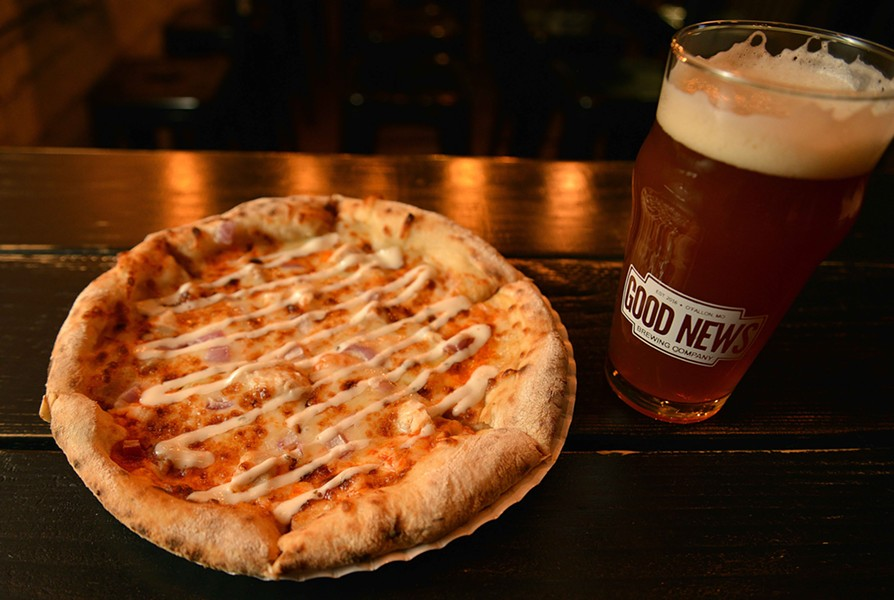 Pizza and beer are on the menu at Good News. - TOM HELLAUER