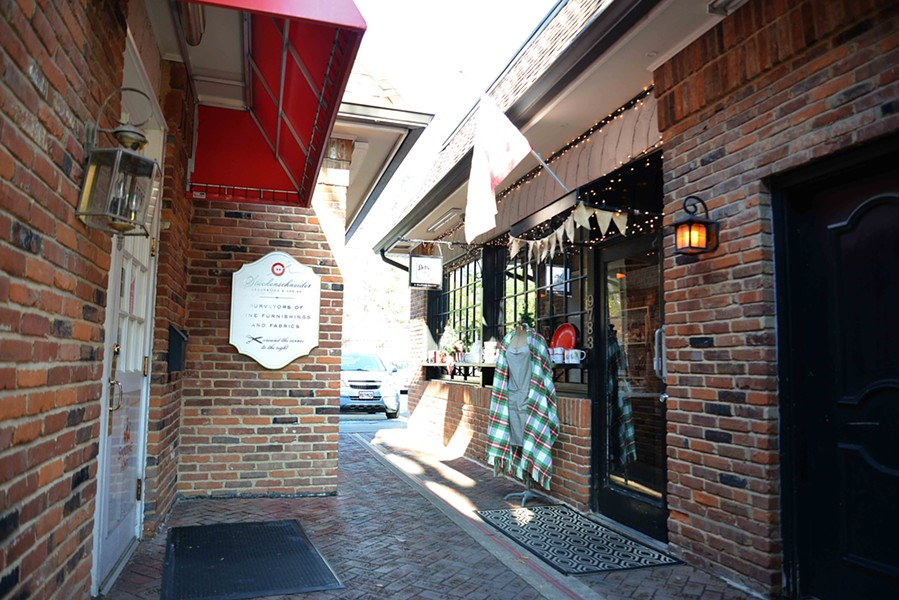 Down a small brick alley, Dottie's pies feel right at home in this cozy nook. - TOM HELLAUER