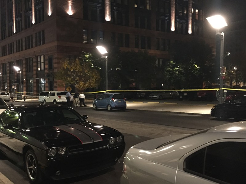 Police cordoned off a section of Washington. - PHOTO BY JEREMY ESSIG