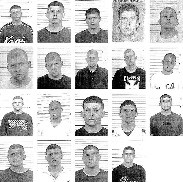 A host of Reggie Allen's mugshots. The bouncer has been charged in a host of crimes across the Metro East.