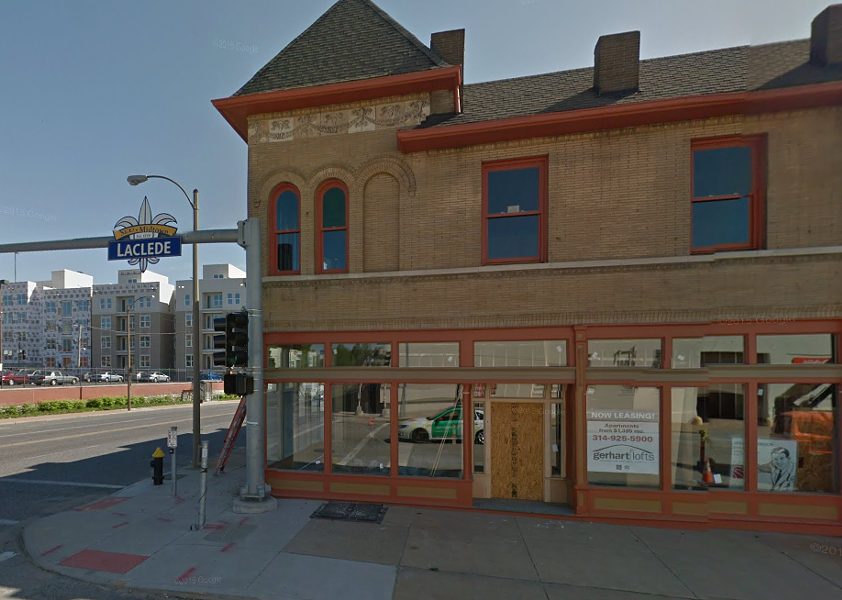 The historic building at 3906 Laclede, shown before the major rehab that will transform it into lofts and upscale eateries. - IMAGE VIA GOOGLE MAPS