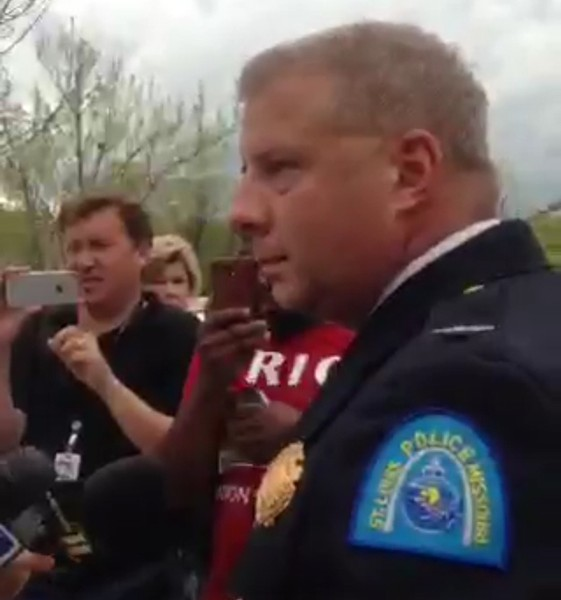 St. Louis Police Chief Sam Dotson briefs media following a deadly police shooting. - IMAGE VIA SLMPD PERISCOPE