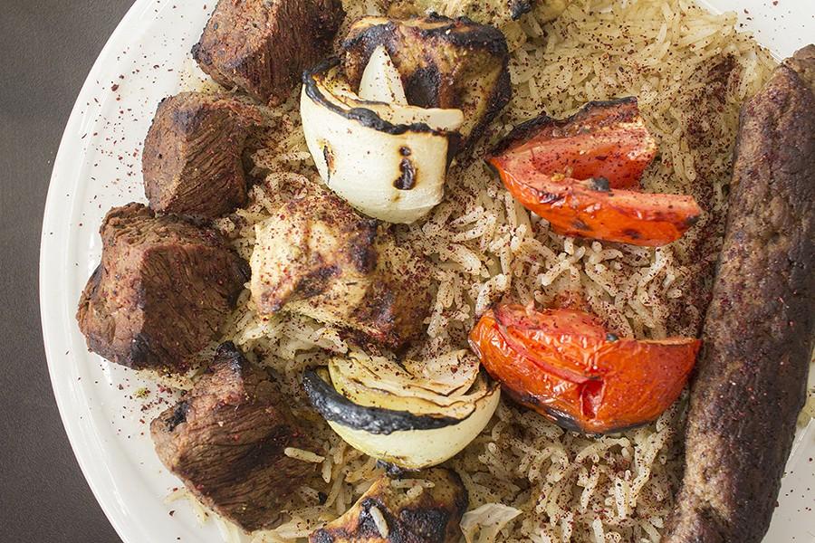 The kefta kebob has a delicious, sausage-like flavor. - PHOTO BY MABEL SUEN