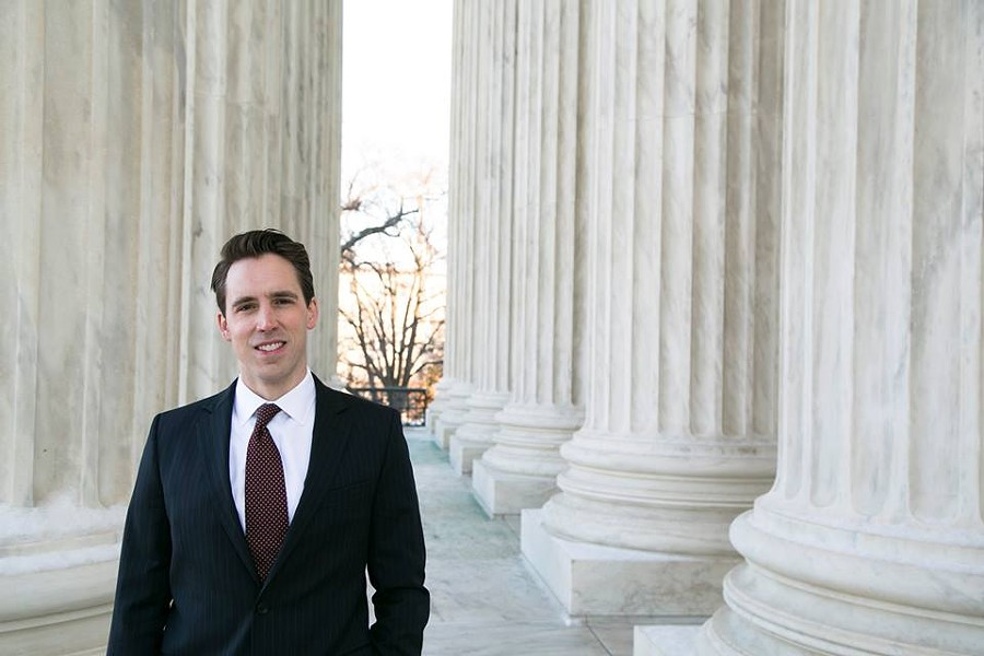 Josh Hawley won easily in the Republican primary for state Attorney General. - IMAGE VIA FACEBOOK