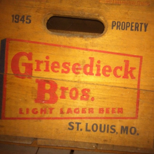 An old crate from the Griesedieck Brothers' mid-century days. - PHOTO COURTESY OF FLICKR/BILL STREETER