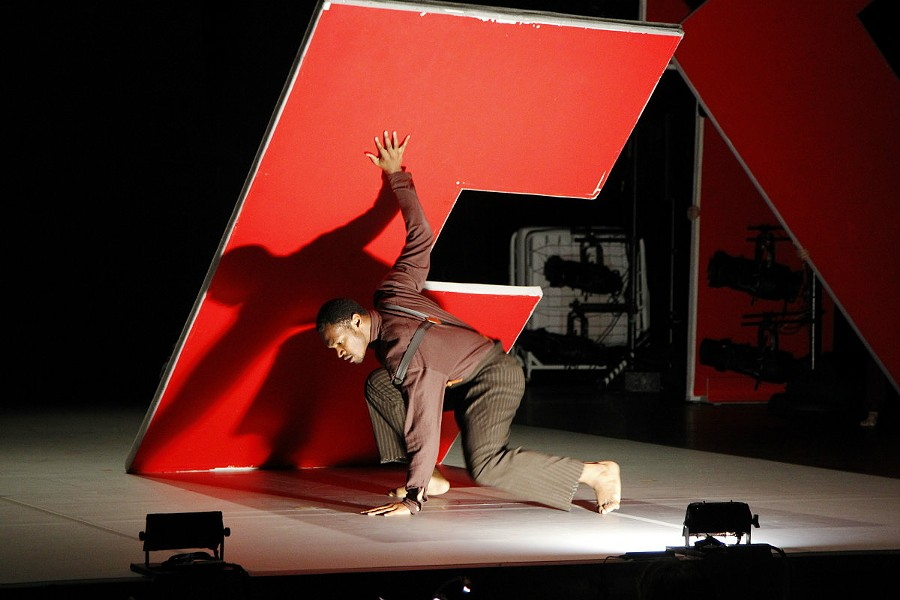 "Bill T. Jones / Arnie Zane Company in ""Analogy/Dora: Tramontane."" - PHOTO BY PAUL B. GOODE."