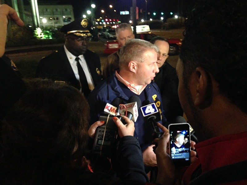 Police Chief Sam Dotson describes an attack on a sergeant. - IMAGE VIA SLMPD TWITTER