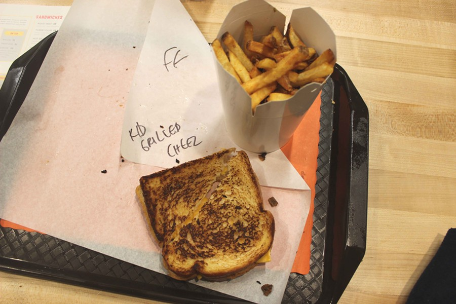 Kid's grilled cheese and fries. - PHOTO BY LAUREN MILFORD
