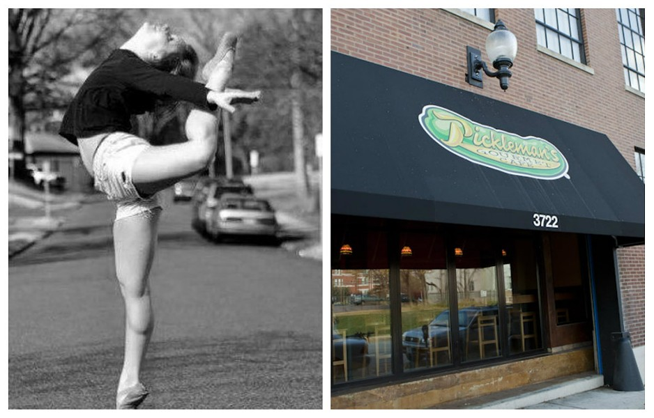 Rain Stippec, left, was shot in Soulard on Monday. Pickleman's Gourmet Cafe, right, is stepping in to help with her recovery fund. - LEFT: PHOTO VIA GOFUNDME. RIGHT: PHOTO BY LAURA ANN MILLER.