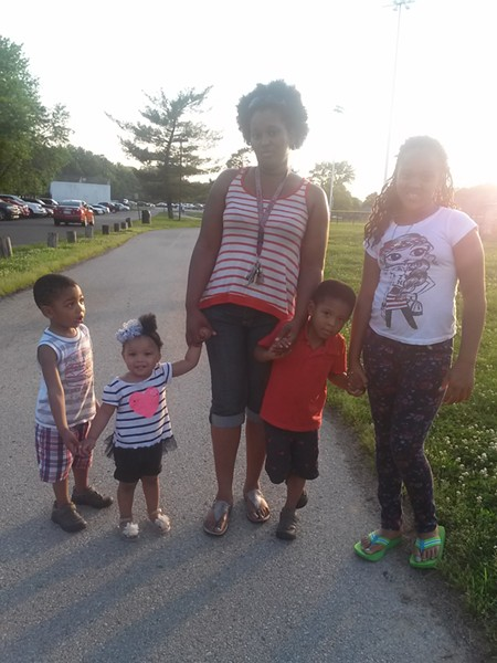 Ritania Rice and her four children in a photo taken at Forestwood Park before an interaction with an officer went south. - COURTESY OF THE RICE FAMILY