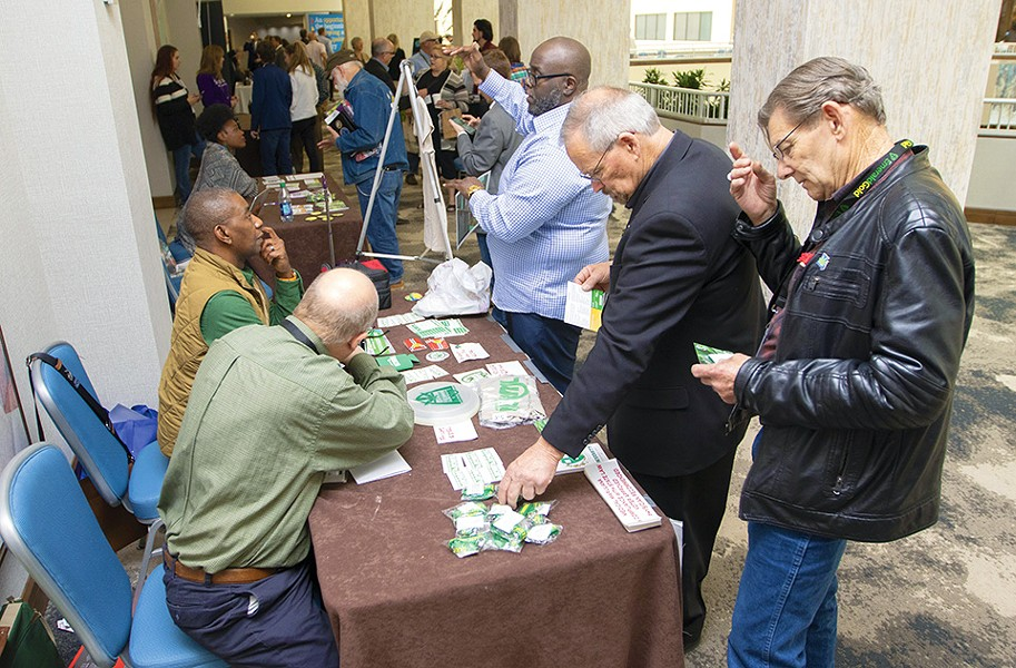Would-be marijuana entrepreneurs flocked to CannaConStL in St. Louis this April. - ZIA NIZAMI