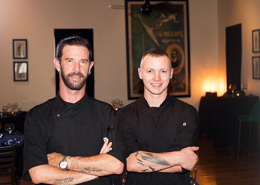 Chefs Carl Hazel and Stephan Ledbetter excel in the versatile Soulard restaurant. - MABEL SUEN