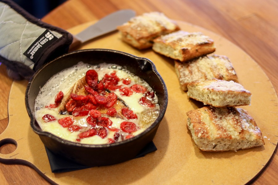 Sizzling brie spread and house bread - CHELSEA NEULING