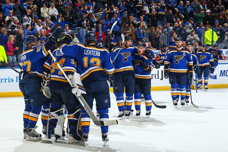 The Blues open the new NHL season at home, because when you're the champs they have to come to you. - COURTESY OF ST. LOUIS BLUES