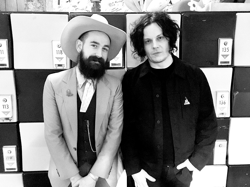 As Pokey LaFarge's frequent photographer, Burrell has spent a fair amount of time with Ryan Koenig and Jack White. - NATE BURRELL