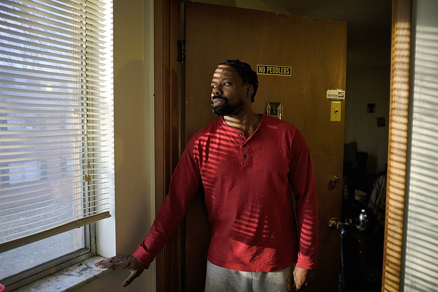 Samuel Rodgers has lived in Blue Fountain apartments for thirteen years. - THEO WELLING
