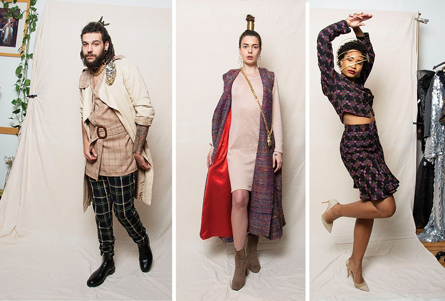 Models from left to right: Jeff Webster, Alyssa Kay and Ronyea Harvey. Design/styling by Brandin Vaughn. - ANDY PAULISSEN