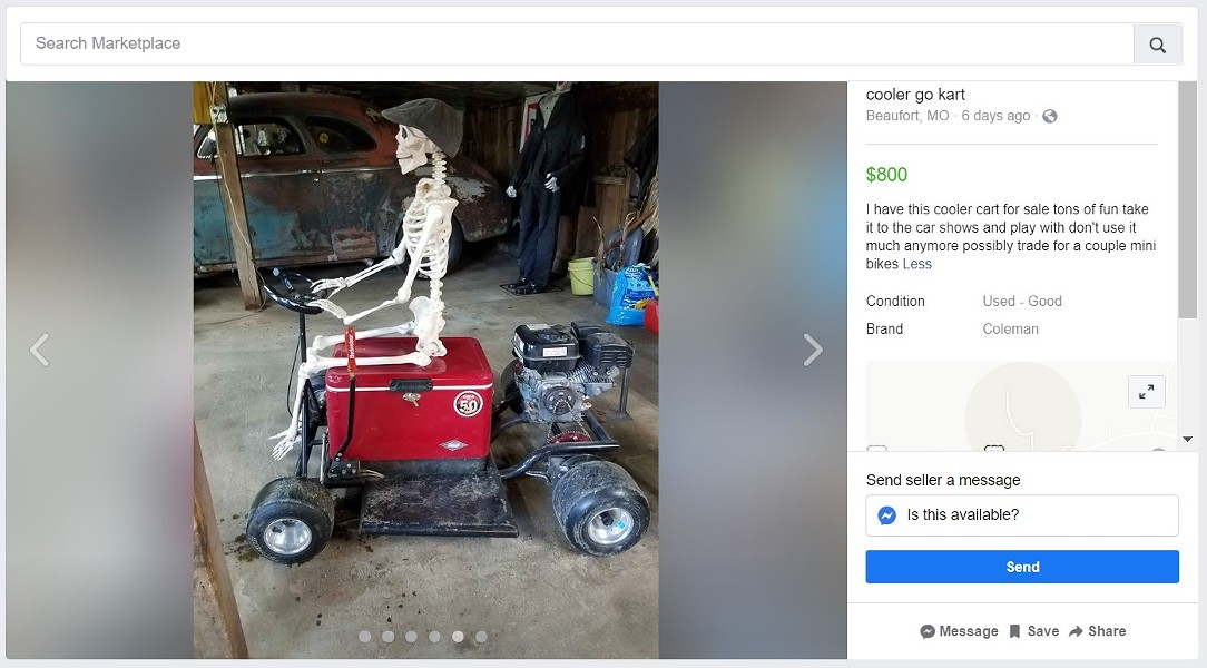 This is the best end-times ride we've seen yet. - SCREENGRAB FROM FACEBOOK MARKETPLACE