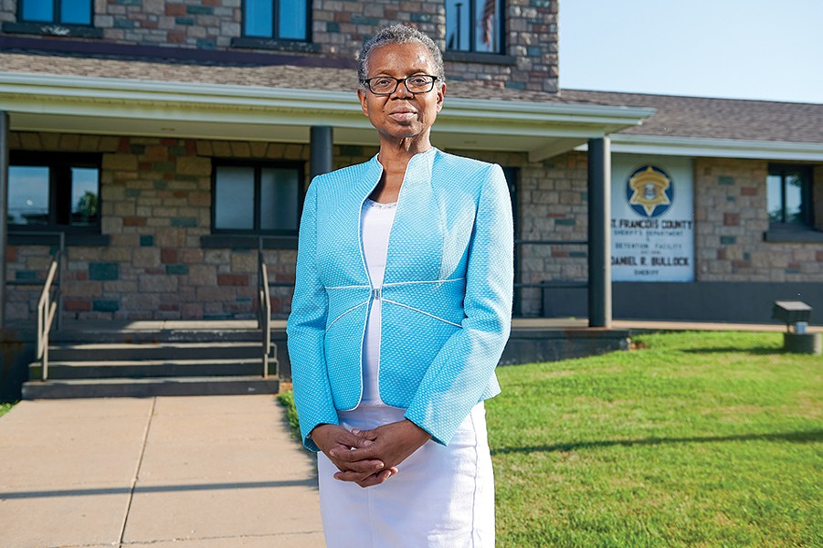 Vonne Karraker, a lawyer in Farmington, Mo., has become the face of the local resistance against the St. Francois County Jail, pictured here. - MICHAEL THOMAS FOR THE MARSHALL PROJECT