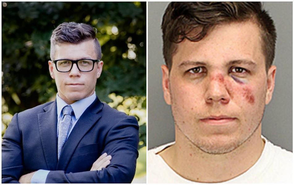 Alex Furman, a Libertarian and Proud Boy, is challenging Cori Bush for a spot in the U.S. House. - ALEX FURMAN FOR CONGRESS/MUGSHOT VIA RIVERSIDE COUNTY SHERIFF
