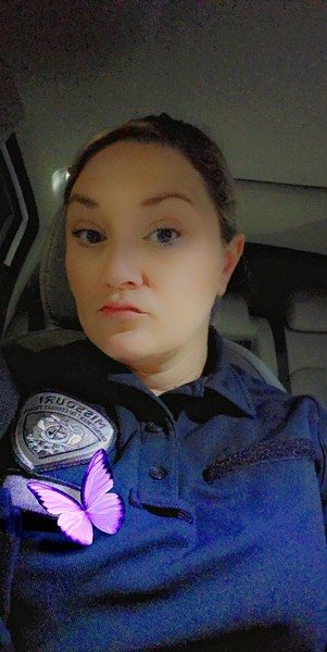 April Hudgens left her job as a corrections officer after six years. - APRIL HUDGENS