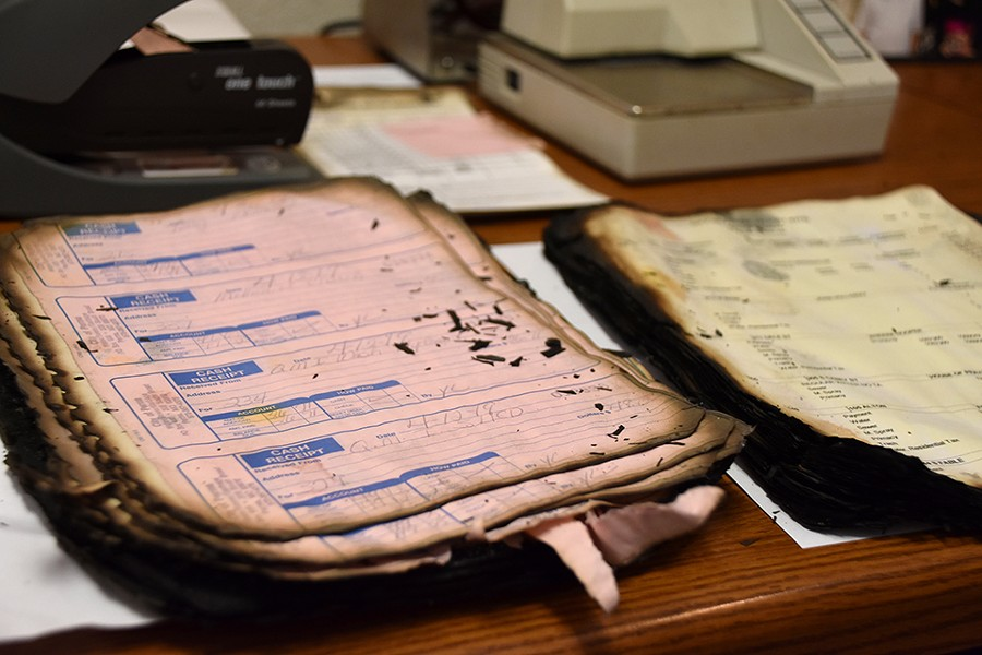 Parma officials have tried to salvage paper records from the City Hall fire - DOYLE MURPHY