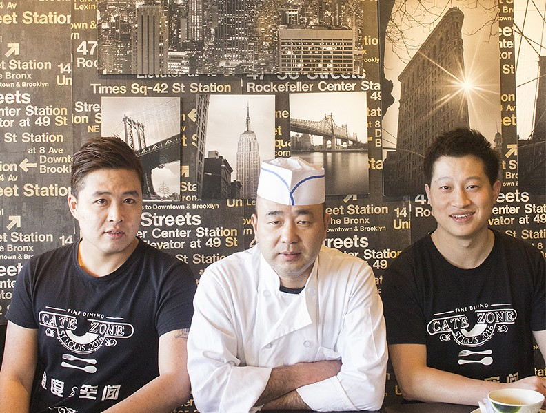 Co-owner Daniel Ma, chef Yuming Han and co-owner Quincy Lin. - PHOTO BY MABEL SUEN