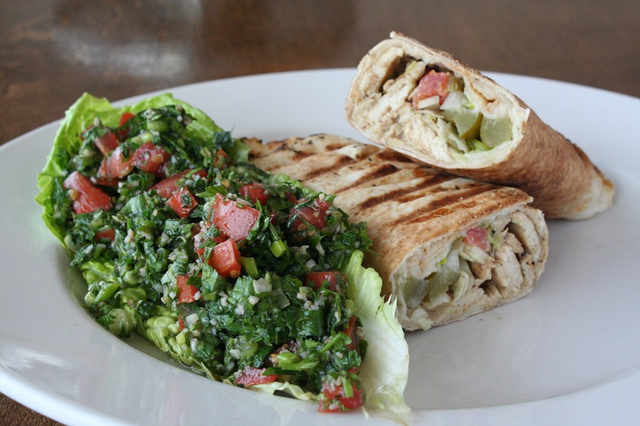 Chicken shawarma with tabbouli - PHOTO BY JOHNNY FUGITT