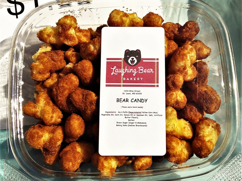 THE 'CRACK:' BEAR CANDY SOLD BY LAUGHING BEAR