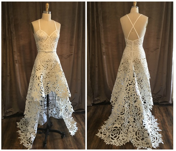Ulicni's dress took three months and 23 rolls of Quilted Northern toilet tissue to make. - ASHLEY ULICNI