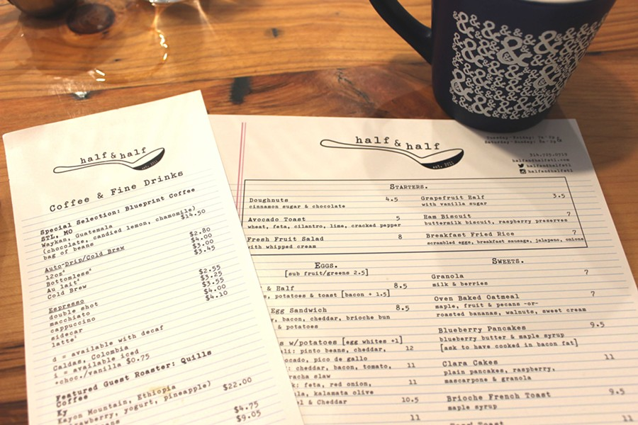 The same menu is served at both the Clayton and Webster locations. - PHOTO BY LAUREN MILFORD