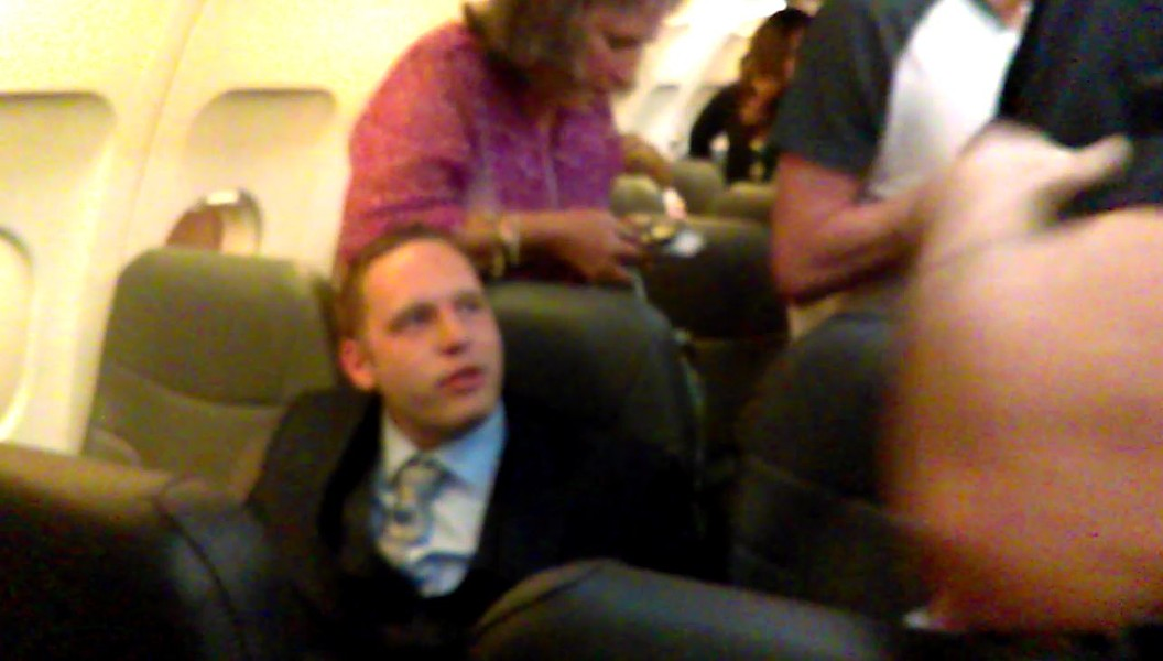 "A drunk passenger who tried to play his ""white card."" - SCREENSHOT VIA MARRISSA BUCKLER"